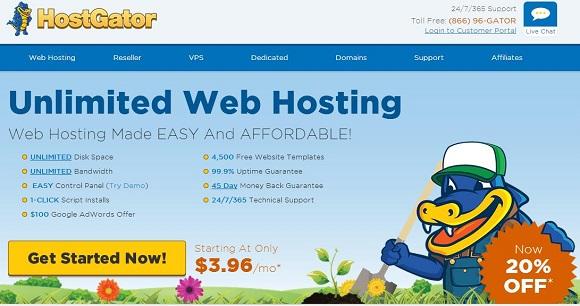 Hostgator אחסון אתרים