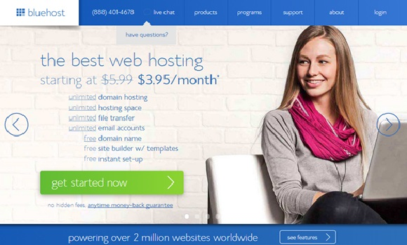 BlueHost אחסון אתרים
